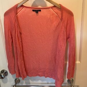 American Eagle peach cardigan